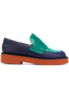 Marni colour blocked loafers - Blue