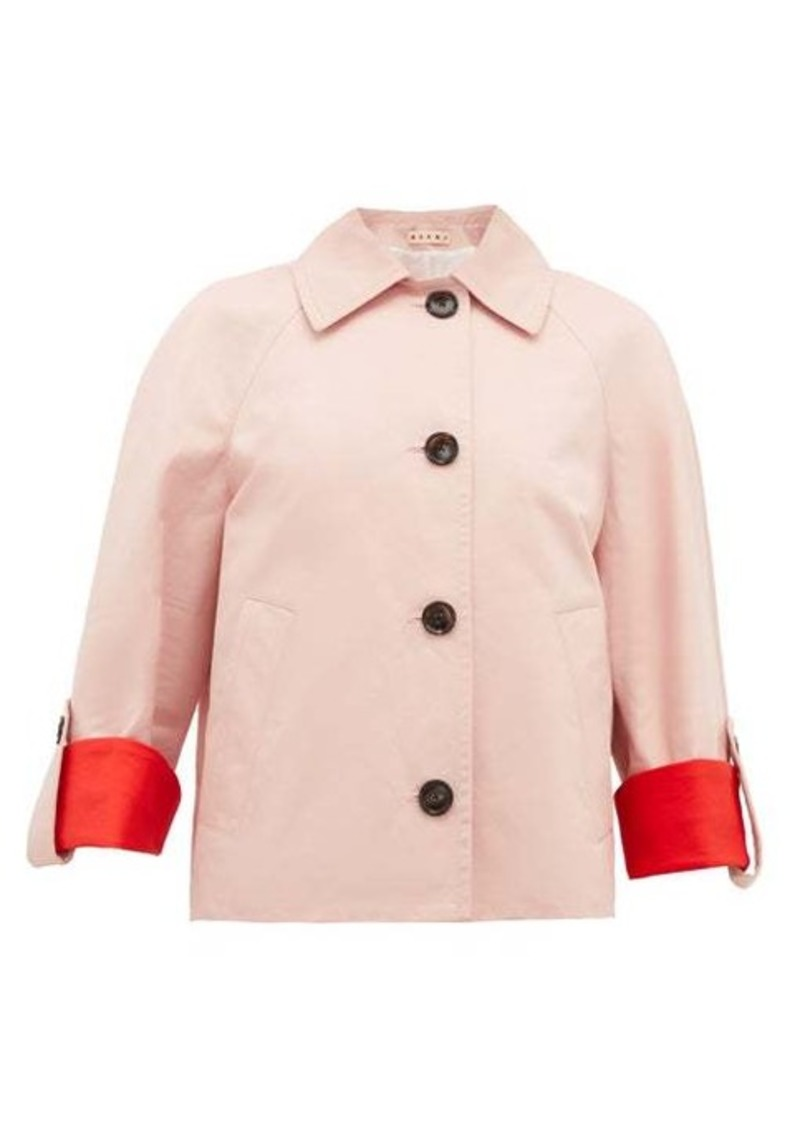 Marni Contrast-cuff cotton-blend jacket