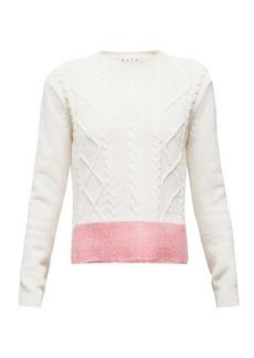 Marni Contrast-hem cable-knit sweater