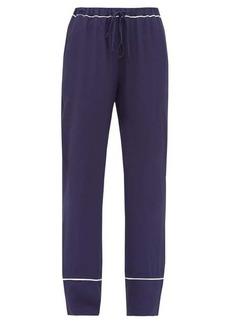 Marni Contrast-trim crepe pyjama trousers