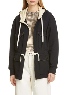 Marni Contrast Trim Hooded Jacket