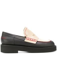 Marni contrast upper loafers - Black