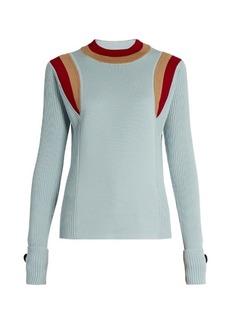 Marni Contrasting-knit wool sweater
