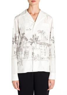 Marni Cotton Poplin Artist Jacket