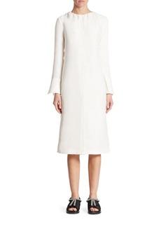 Marni Crinkled Chiffon Midi Dress
