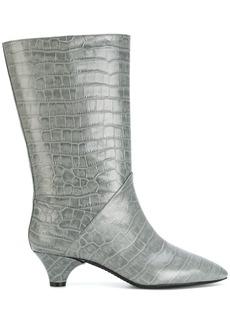 Marni croc embossed boots - Grey