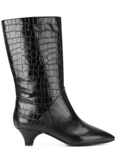 Marni crocodile-effect boots - Black