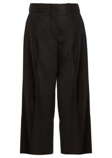 Marni Cropped wide-leg wool-twill trousers