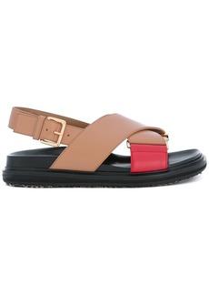 Marni crossover Fussbett sandals - Pink & Purple
