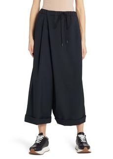 Marni Crossover Tropical Wool Wide Leg Crop Pants