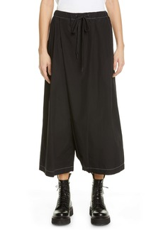 Marni Crossover Wide Leg Crop Pants