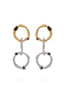 Marni Crystal-embellished chain-link earrings