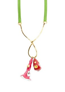 Marni Crystal-embellished enamel pendant necklace