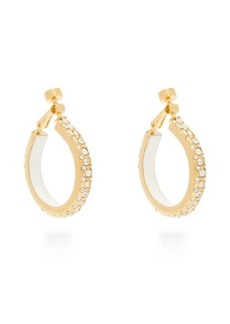 Marni Crystal-embellished hoop clip earrings