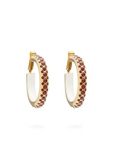 Marni Crystal-embellished hoop earrings