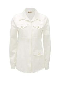 Marni Cuban-collar cotton safari jacket