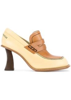 Marni curved heel penny loafers - Yellow & Orange