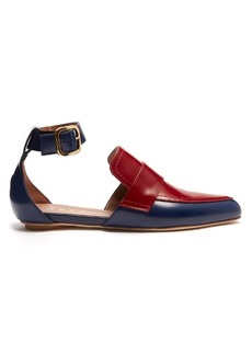 Marni Cut-out two-tone leather loafers
