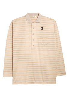 Marni Dance Bunny Patch Stripe Compact Jersey Polo