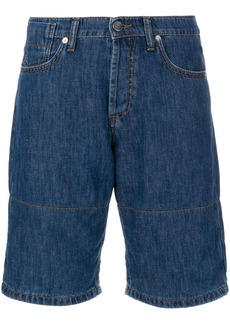 Marni denim shorts with turn up cuffs - Blue