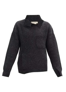 Marni Distressed oversized virgin-wool sweater