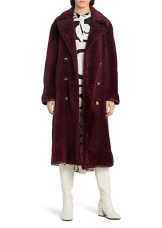 Marni Double Breasted Genuine Shearling Coat