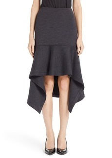 Marni Double Face Jersey Handkerchief Hem Skirt