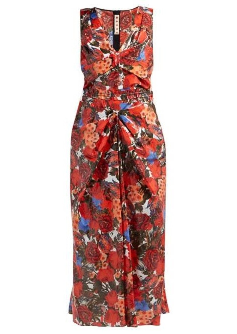 Marni Duncraig-print floral-print coated-cotton dress