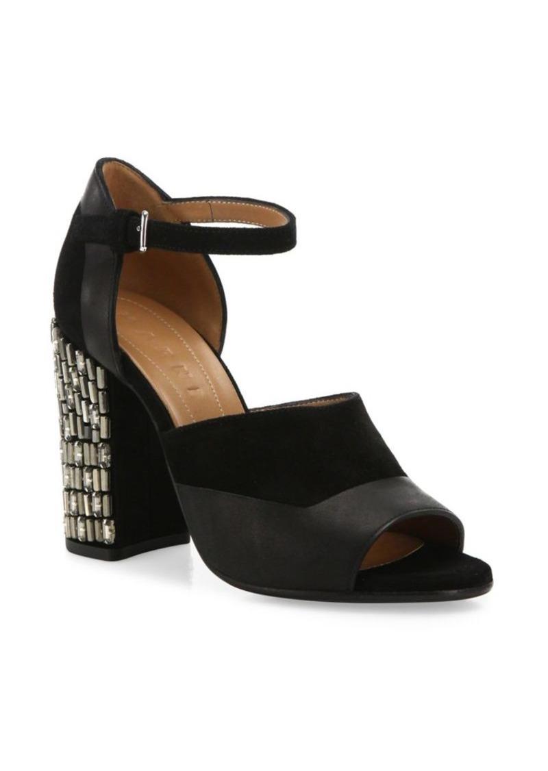 Marni Leather Ankle-Strap Sandals popular cheap online 06kSfk7v4
