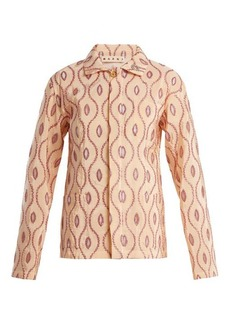 Marni Embroidered-eyelet taffeta jacket