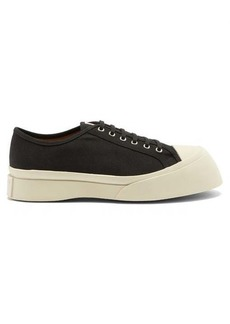 Marni Exaggerated-sole canvas trainers