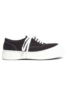 Marni Exaggerated-sole low-top canvas trainers