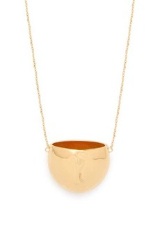 Marni Face 24kt gold-plated necklace