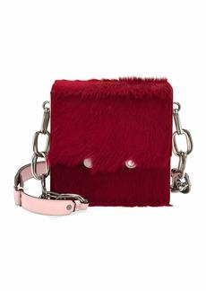 Marni Flap-Top Calf Hair Chain Shoulder Bag