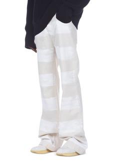 Marni Flared Paint Striped Denim Jeans