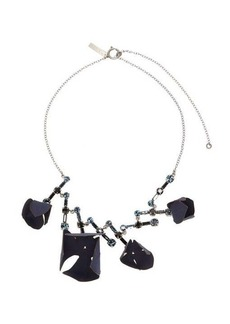 Marni Flora fabric and strass-crystal necklace