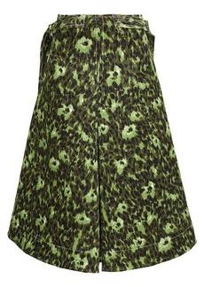 Marni Floral-print cotton-cloqué A-line skirt