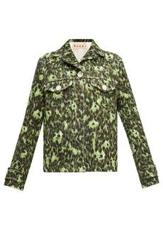 Marni Floral-print cotton cloqué jacket