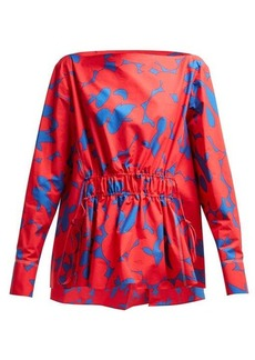 Marni Floral-print cotton top