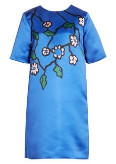 Marni Floral Print Duchesse Satin Dress