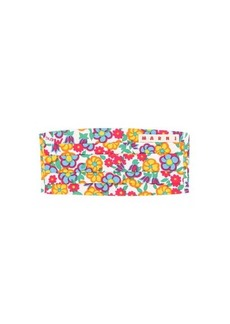 Marni Floral-print cotton face covering
