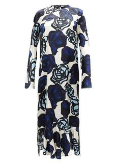 Marni Floral-print satin-jacquard maxi dress