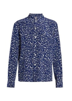 Marni Floral-print silk-crepe blouse