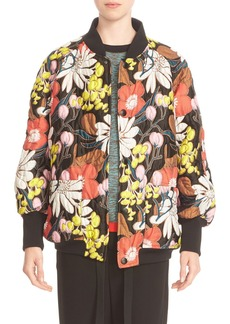 Marni Floral Quilted Bomber Jacket