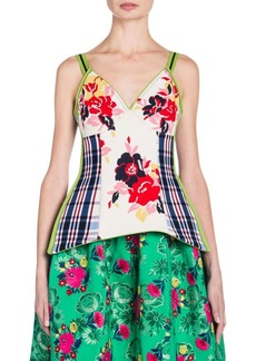 Marni Floral Stretch Tank Top