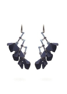 Marni Flower & crystal drop earrings