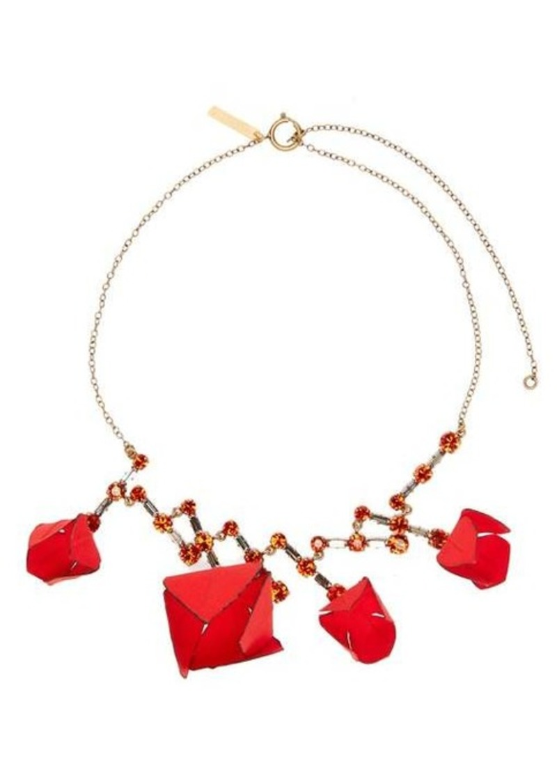 Marni Flower and crystal necklace