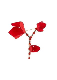Marni Flower crystal-embellished brooch