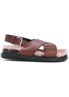 Marni fluffy insole sandals - Brown