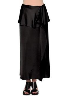 Marni Fold-Waist Side-Ruffle Maxi Skirt